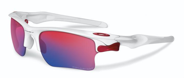 Lunettes de soleil Oakley Fast Jacket blanche avec verres Red Iridium