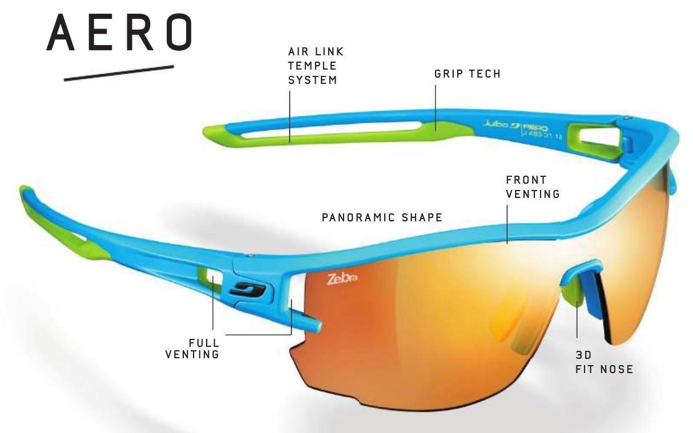 Avec les Julbo Aero, les trails runners ont donc une nouvelle paire de  lunettes de soleil fabriquée uniquement pour eux. A l instar des Julbo  Breeze qui ... dbce84c6ef44